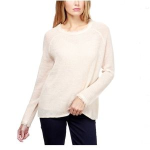 Lucky Brand Frayed Pullover Sweater M